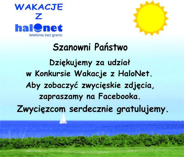 Konkurs Wakacje z HaloNet