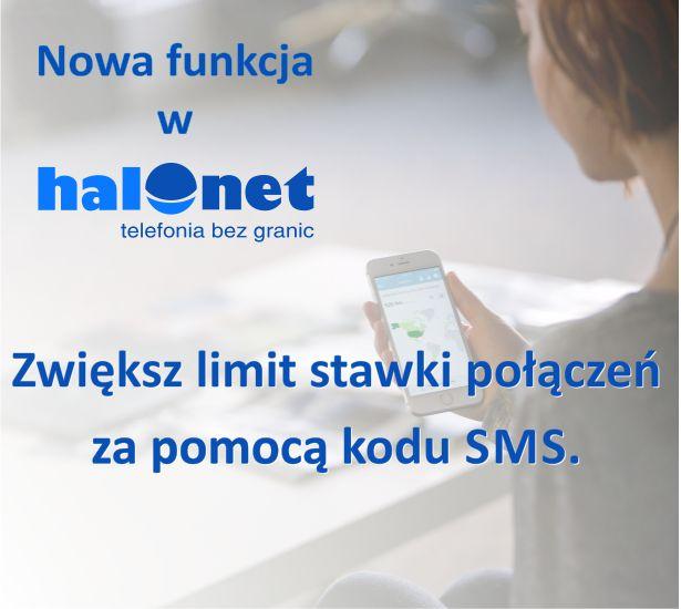 Możliwość zwiększenia limitu stawki poprzez autoryzację kodem SMS